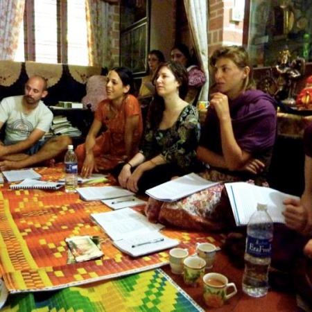 Abhinaya lesson at Indu and Madhu's house